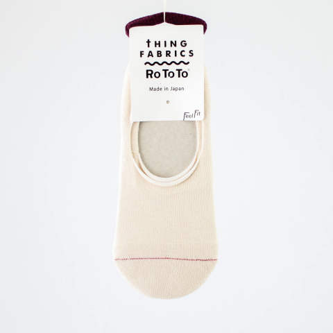 RoToToとTHING FABRICSとのコラボソックス【TIP TOP 365 Organic PILE FOOT COVER】